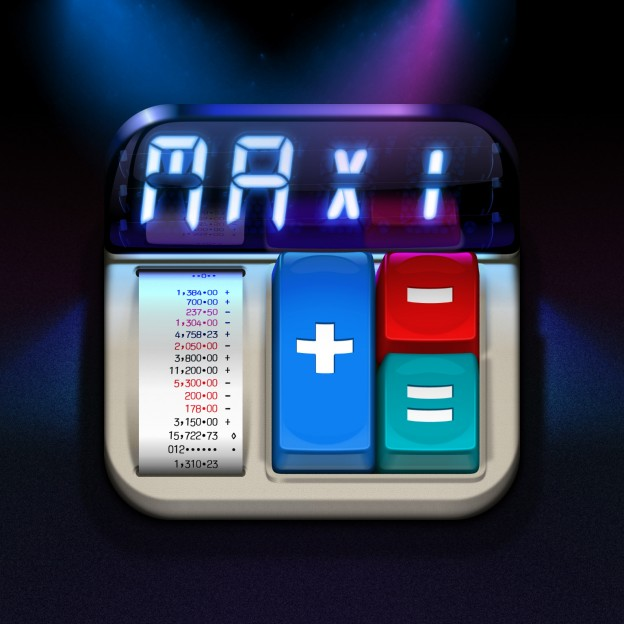 Calculator MaxiCalc for iPad: iOS Icon in HD