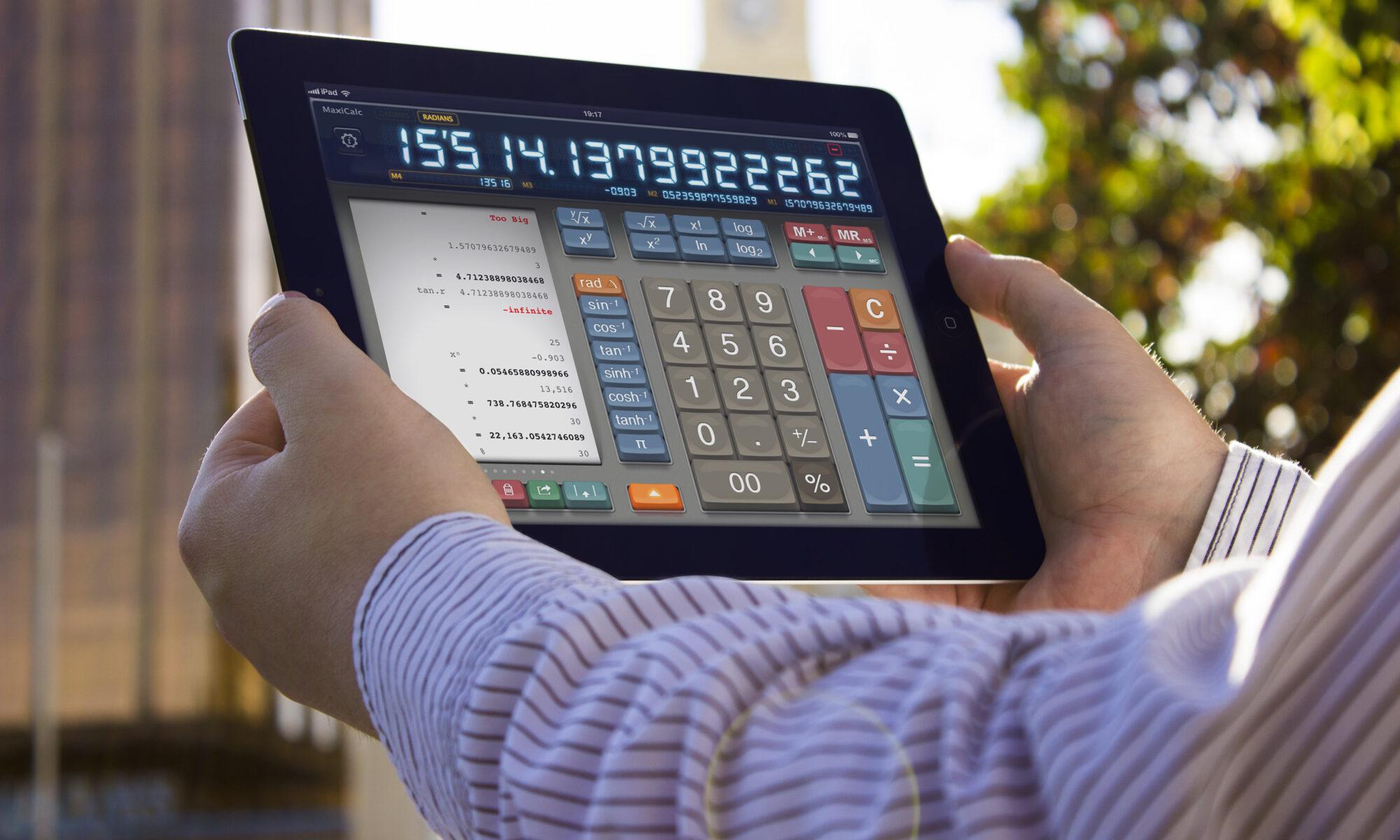 MaxiCalc Calculator for iPad